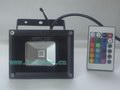 10w Led RGB Flood Light with Remote, high quality black housing