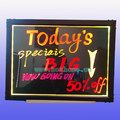 30X40CM Fluorecent Led Write Board, Multi-colors changed with hand and remote control
